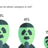 Using atomic weapons: 44% believe that (if war requires) Pakistan will use its atomic weapons; 41% believe to the contrary.